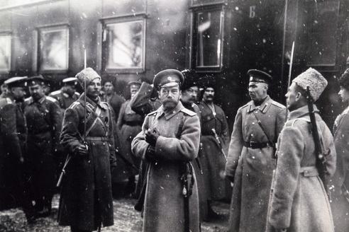 Прибытие Императора Николая II в Действующую Армию. 30 января 1916 г.
