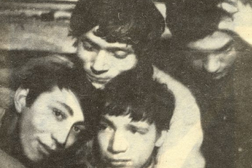 СМОГ. Юрий Кублановский, Владимир Алейников, Леонид Губанов, Аркадий Пахомов. 1965 г.