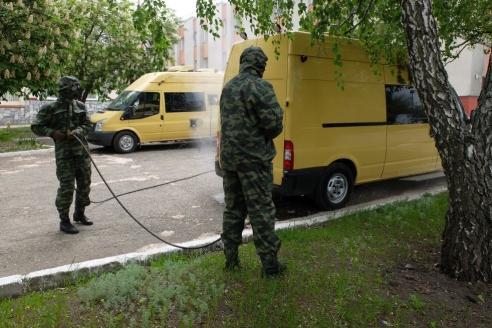 Российские войска РХБЗ. Фото Игоря Руденко
