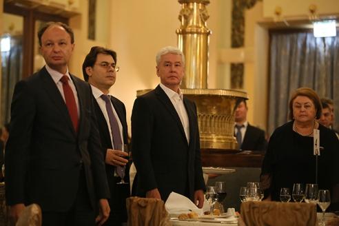 Мэр Москвы Сергей Собянин на приеме в честь Дня российской печати
