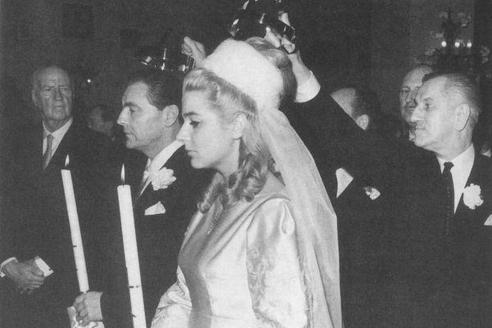 Бракосочетание барона Фальц-Фейна с Кристиной Шварц. Мюнхен. 1965 г.