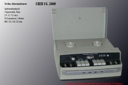 Магнитофоны серии «Uher Universal 5000» 1963–1978 гг.