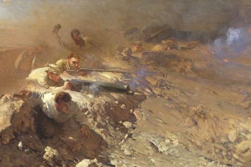 «Под Сталинградом». А.В. Евстигнеев
