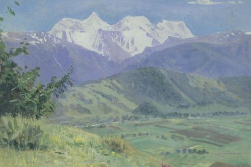 «Вид на Белуху». Г.И. Гуркин