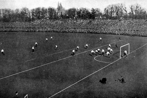 Финал Кубка Англии. Матч между «Тоттенхэм Хотспур» и «Шеффилд Юнайтед» на стадионе «Кристал Пэлас». 1901 г.