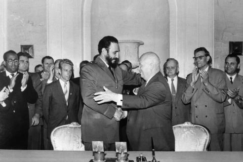 Премьер-министр революционного правительства Кубы Ф.Кастро во время визита в СССР. 1963 г.
