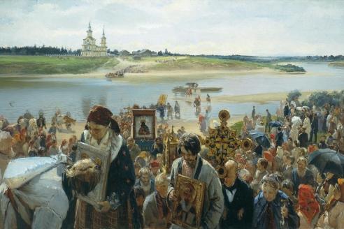 """""""Крестный ход"""". М.И. Прянишников"""