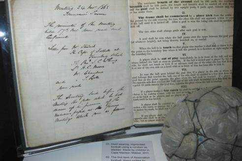 «Законы игры», подготовленные для Футбольной ассоциации Эбенезером Морли в 1863 году