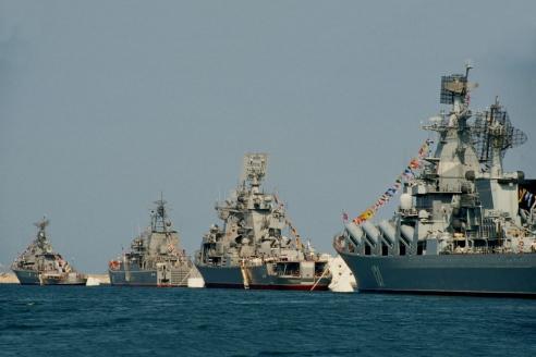 Парад кораблей, посвящённый дню ВМФ России