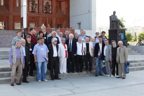 Участники делегации во время Дней российской культуры в Республике Саха-Якутия. 2015 г.