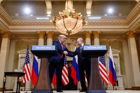 Встреча В. Путина и Д. Трампа в Хельсинки. 2018 г.