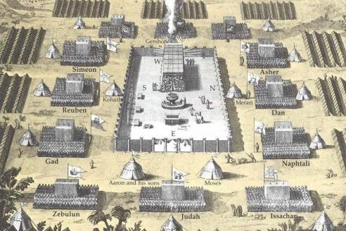 12 колен Израилевых вокруг Скинии Завета