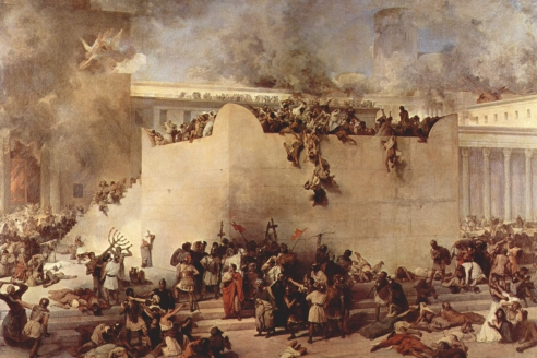 «Разрушение Иерусалимского храма». Ф. Айец