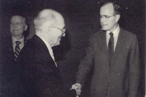 Я. Стецько и американский президент Дж. Уокер Буш