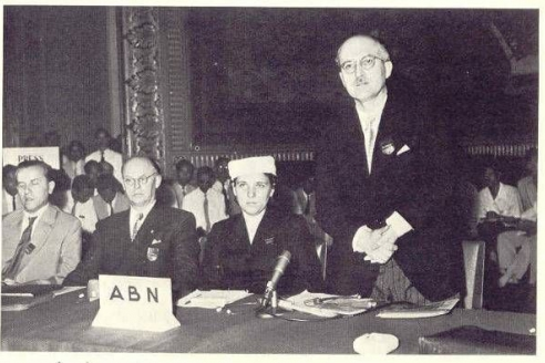 Ярослав и Слава Стецько на одном из международных конгрессов, организованных Антибольшевистским блоком стран