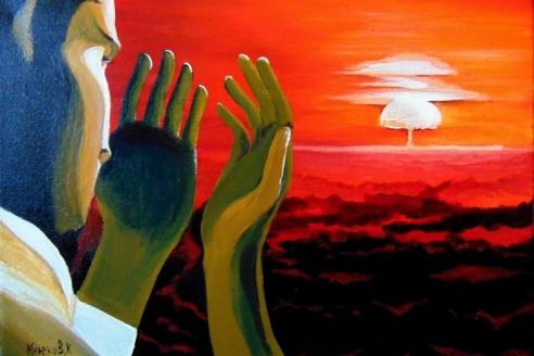 Картина К. Куюкова на антиядерную тему