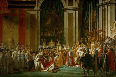 «Коронация императора Наполеона I и императрицы Жозефины в соборе Парижской Богоматери 2 декабря 1806 г.» Ж. Давид 1805—1807 гг.