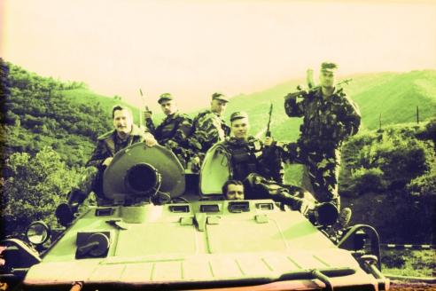 С разведгруппой на задании. Чечня. 2001 г.
