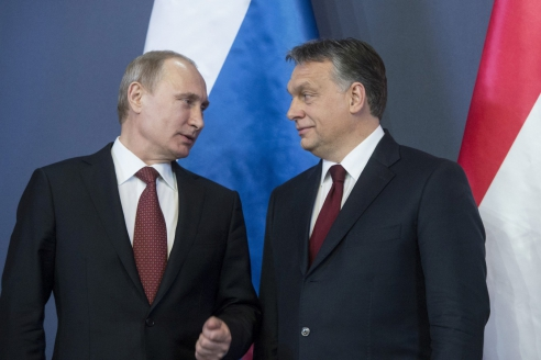 Президент РФ В.Путин и премьер-министр Венгрии В.Орбан