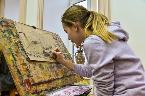 Международные творческие мастер-классы в детской художественной школе имени М.К. Аникушина