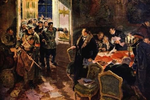 «Арест Временного правительства». А.М. Лопухов. 1957 г.