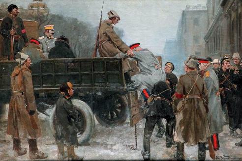 «Арест генералов». И.А. Владимиров. 1918 г.