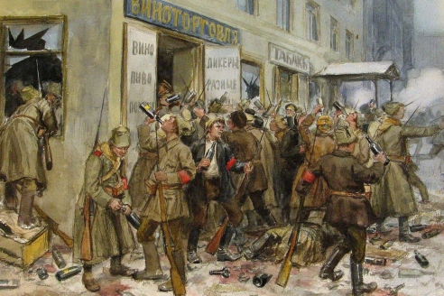 «Погром винного магазина». И.А. Владимиров. 1918 г.