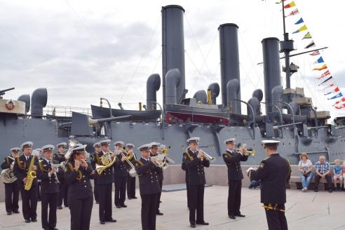 Торжественное открытие новых экспозиций в филиале Центрального военно-морского музея «Крейсер «Аврора»