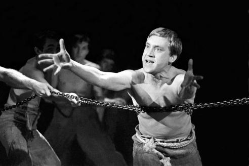 Спектакль  «Пугачёв», в роли Хлопуши —  В. Высоцкий. 1967 г.