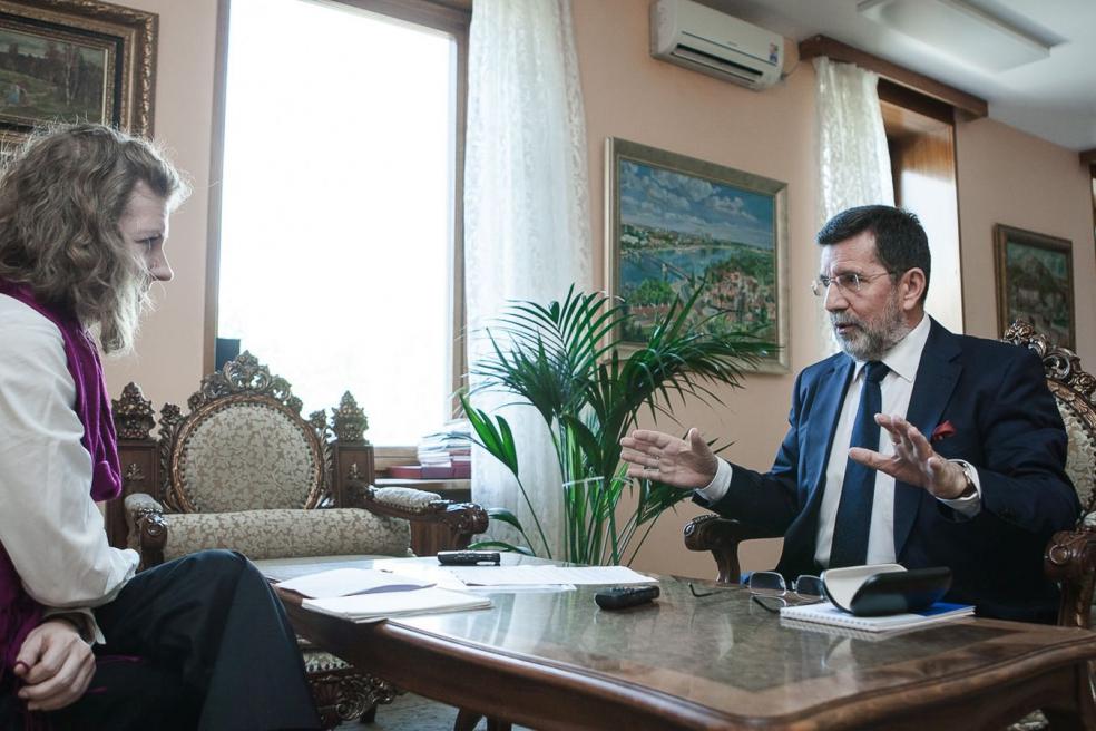 Посол Республики Сербия в РФ и Туркменистане г-н Славенко Терзичем с главным редактором МР Д.Живихиной