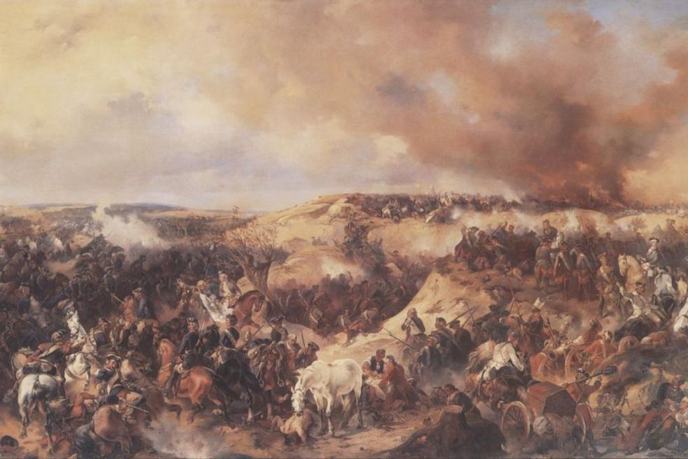 """""""Кунерсдорфское сражение"""". А.Коцебу. 1848 г."""
