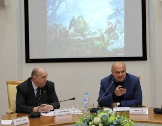 """Участники круглого стола """"Славянское единство"""" в МДН, 22 мая 2018 года"""