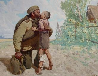 «Возвращение с фронта». Д.Ю. Васильев