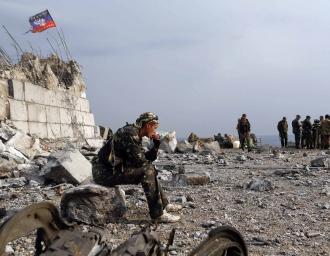Столкновения между украинскими вооружёнными силами и вооружёнными формированиями самопровозглашённой ДНР за расположенный в Донецкой области курган Саур-Могила. 2014 г.