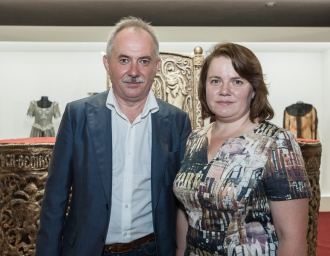 Генеральный директор Н.А.Кузнецов и министр культуры Московской области Оксана Косарева, 20 июля 2016 года