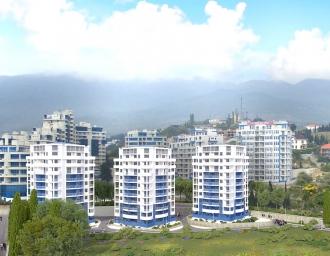Новый многоэтажный жилой комплекс в г. Ялта