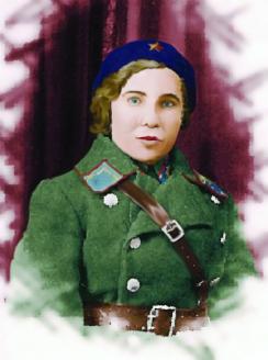 Выпускница курсов милиции. 1941 г.