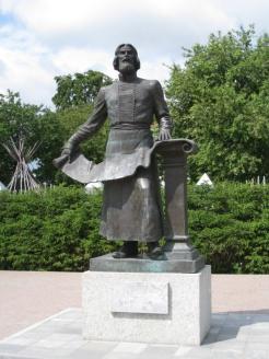 Памятник С. Ремезову в Тобольске