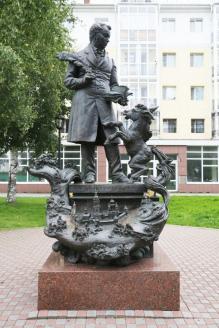Памятник писателю П.П. Ершову в Тобольске