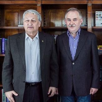 Л.П. Решетников с генеральным директором МР Н.А. Кузнецовым в редакции журнала, ноябрь 2015 г.