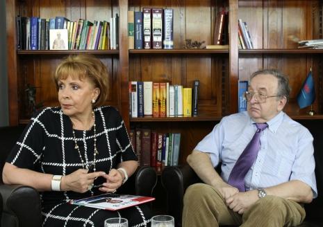 О.А.Монахова и А.Н.Панов в редакции МР, 18 июля 2016 года