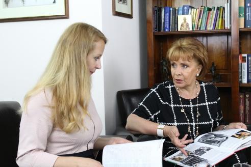 М.В.Забелина и О.А.Монахова в редакции МР, 18 июля 2016 года