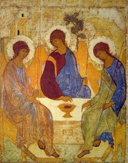 Икона «Святая Троица». Прп. Андрей Рублёв. Начало XV в.
