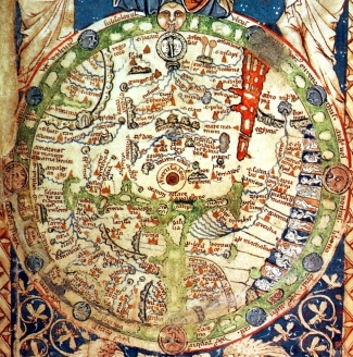 Средневековая карта Т-О типа