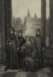 Блаженный Филипп с сыновьями в Киновии