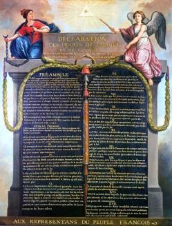 Декларация прав человека и гражданина, принятая Национальным учредительным собранием 26 августа 1789 г. Декларация до сих пор лежит в фундаменте французского конституционного права
