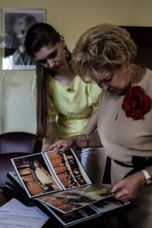 Г.В. Маяровская с корреспондентом МР А. Шершневой, июль 2015 г.