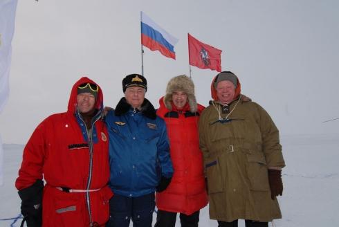 На  Северном полюсе, апрель 2009 г.