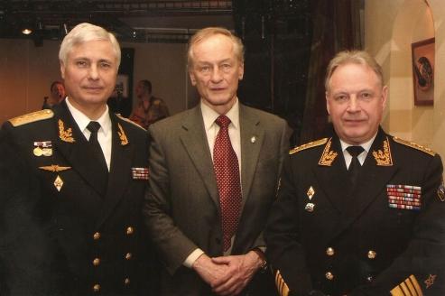 С друзьями  М.И. Ножкиным и адмиралом И.В. Касатоновым