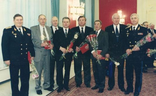 На вручении  Гос премий, 1999 г.